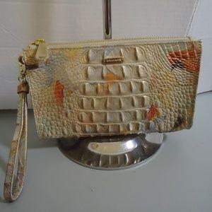 Soldout Brahmin Oasis Daisy Wristlet Tasseled Bag